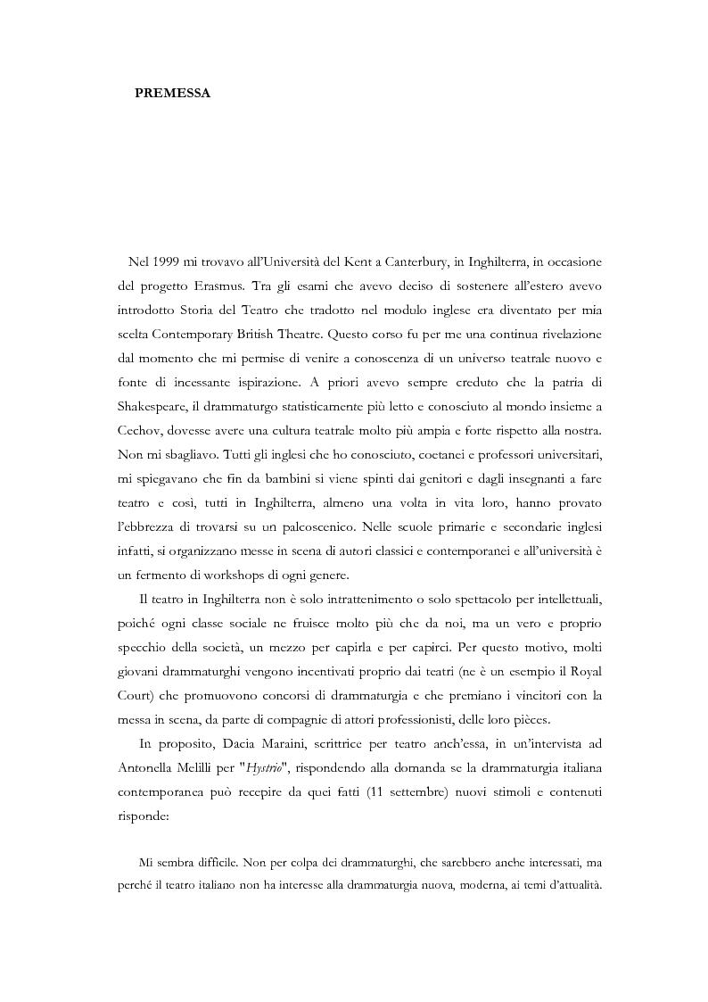 Anteprima della tesi: Fedra e l'Usignolo. Riscrittura del mito nel teatro di Timberlake Wertenbaker e Sarah Kane, Pagina 1