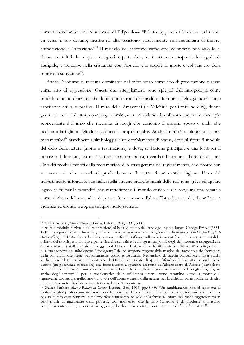 Anteprima della tesi: Fedra e l'Usignolo. Riscrittura del mito nel teatro di Timberlake Wertenbaker e Sarah Kane, Pagina 11