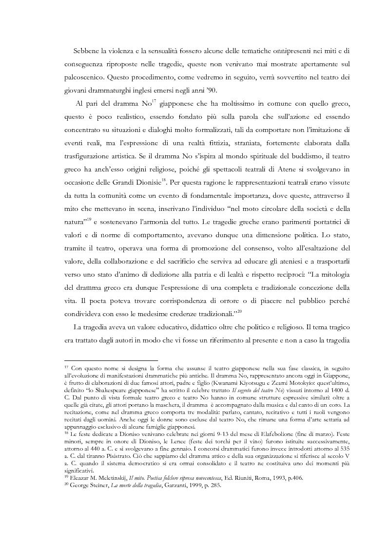 Anteprima della tesi: Fedra e l'Usignolo. Riscrittura del mito nel teatro di Timberlake Wertenbaker e Sarah Kane, Pagina 12