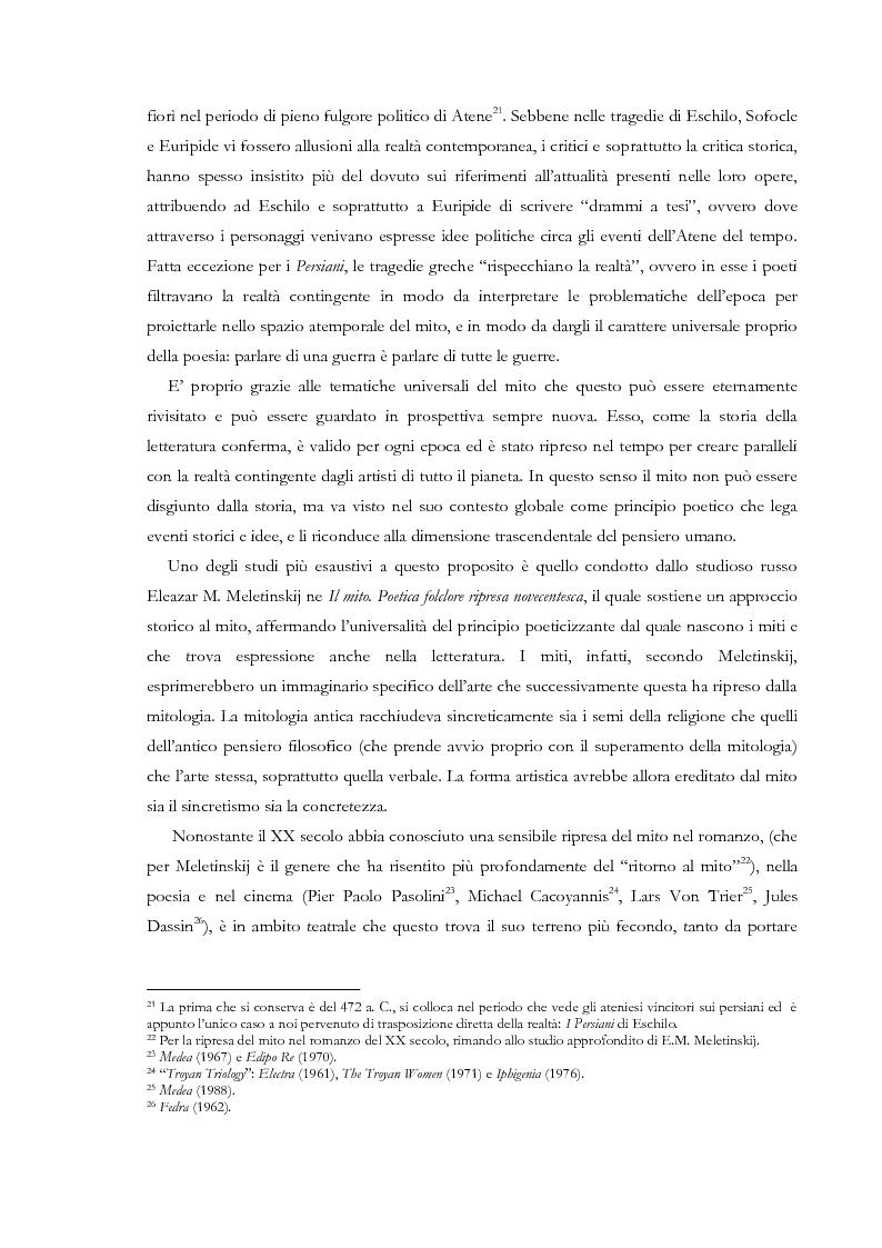Anteprima della tesi: Fedra e l'Usignolo. Riscrittura del mito nel teatro di Timberlake Wertenbaker e Sarah Kane, Pagina 13