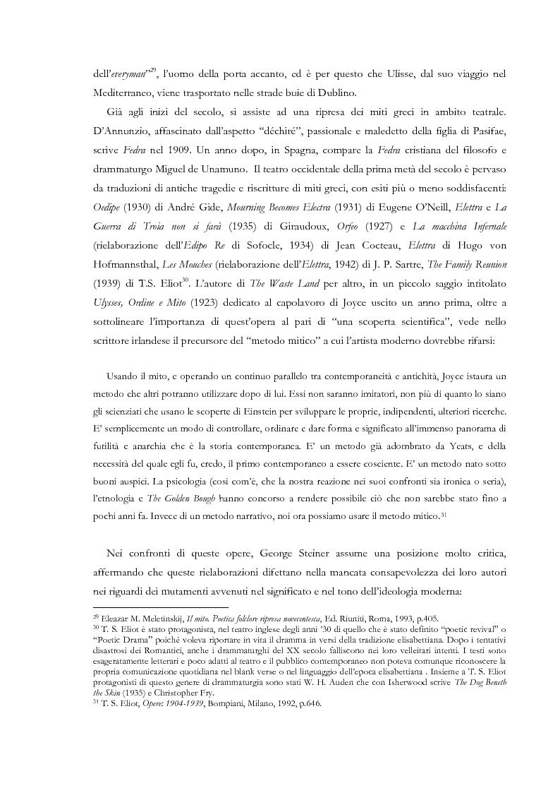 Anteprima della tesi: Fedra e l'Usignolo. Riscrittura del mito nel teatro di Timberlake Wertenbaker e Sarah Kane, Pagina 15