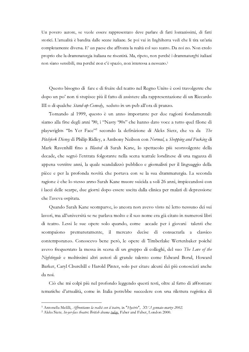 Anteprima della tesi: Fedra e l'Usignolo. Riscrittura del mito nel teatro di Timberlake Wertenbaker e Sarah Kane, Pagina 2