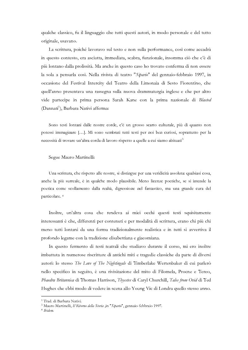 Anteprima della tesi: Fedra e l'Usignolo. Riscrittura del mito nel teatro di Timberlake Wertenbaker e Sarah Kane, Pagina 3