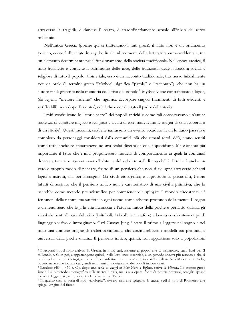 Anteprima della tesi: Fedra e l'Usignolo. Riscrittura del mito nel teatro di Timberlake Wertenbaker e Sarah Kane, Pagina 8