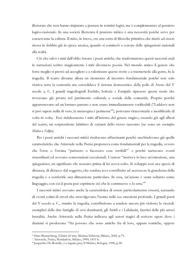 Anteprima della tesi: Fedra e l'Usignolo. Riscrittura del mito nel teatro di Timberlake Wertenbaker e Sarah Kane, Pagina 9