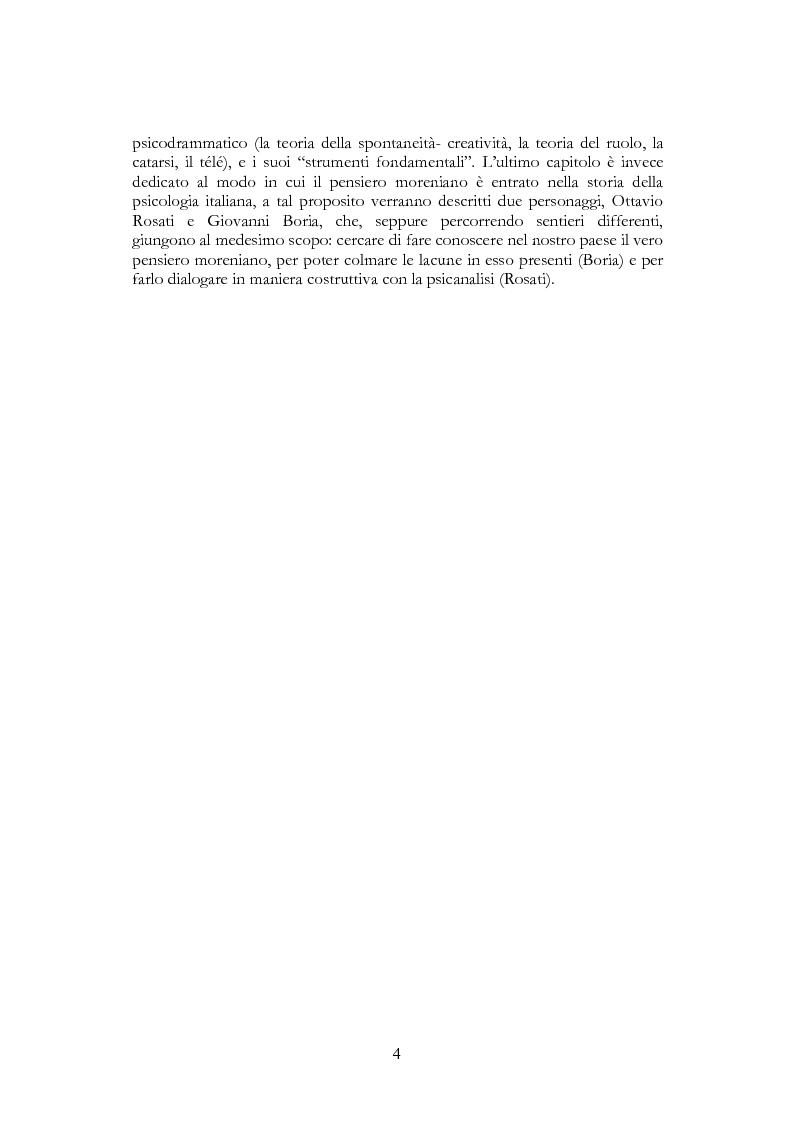 Anteprima della tesi: Per una riscoperta dello psicodramma classico: dalle origini al suo approdo in Italia, Pagina 2