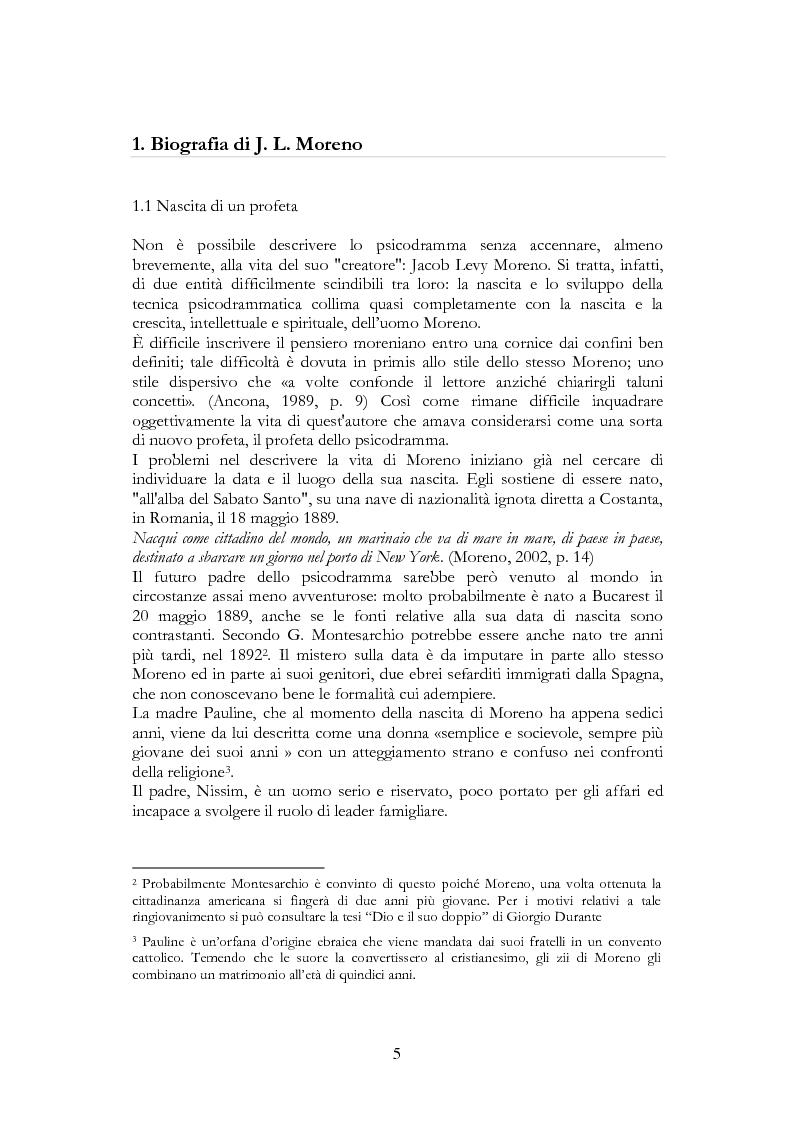 Anteprima della tesi: Per una riscoperta dello psicodramma classico: dalle origini al suo approdo in Italia, Pagina 3
