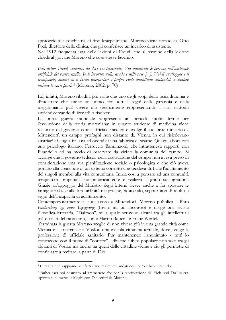 Anteprima della tesi: Per una riscoperta dello psicodramma classico: dalle origini al suo approdo in Italia, Pagina 7