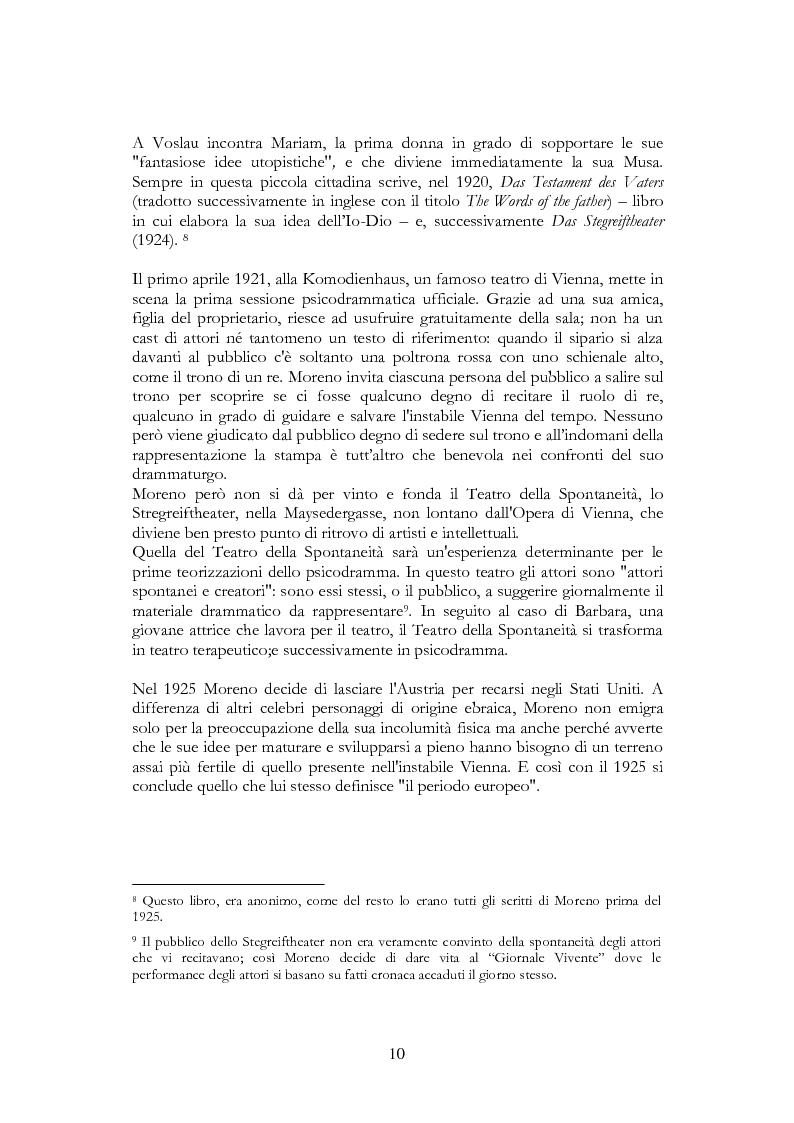 Anteprima della tesi: Per una riscoperta dello psicodramma classico: dalle origini al suo approdo in Italia, Pagina 8