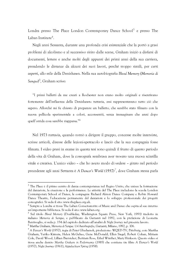Anteprima della tesi: Mito e Tragedia nella coreografia di Martha Graham e Virgilio Sieni, Pagina 2