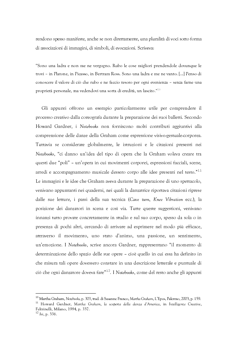 Anteprima della tesi: Mito e Tragedia nella coreografia di Martha Graham e Virgilio Sieni, Pagina 4