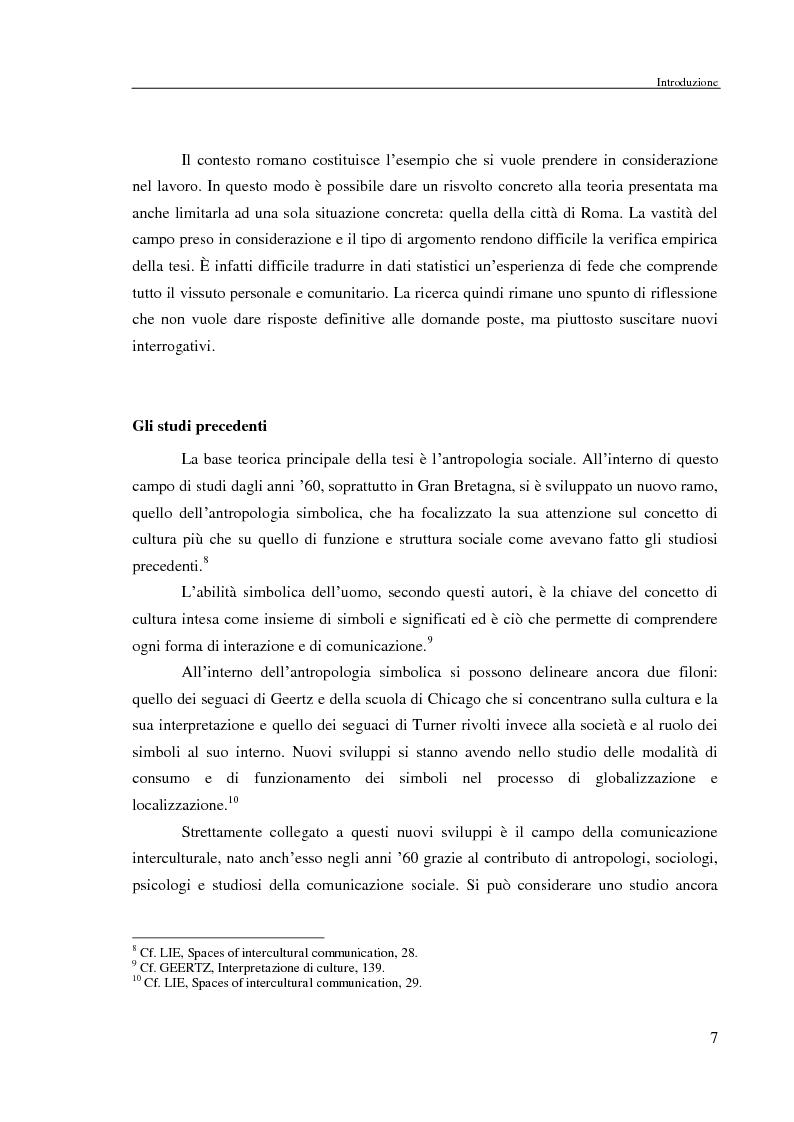 Anteprima della tesi: Comunicazione delle fede in un contesto multiculturale. L'esempio di alcune comunità di immigrati a Roma., Pagina 4