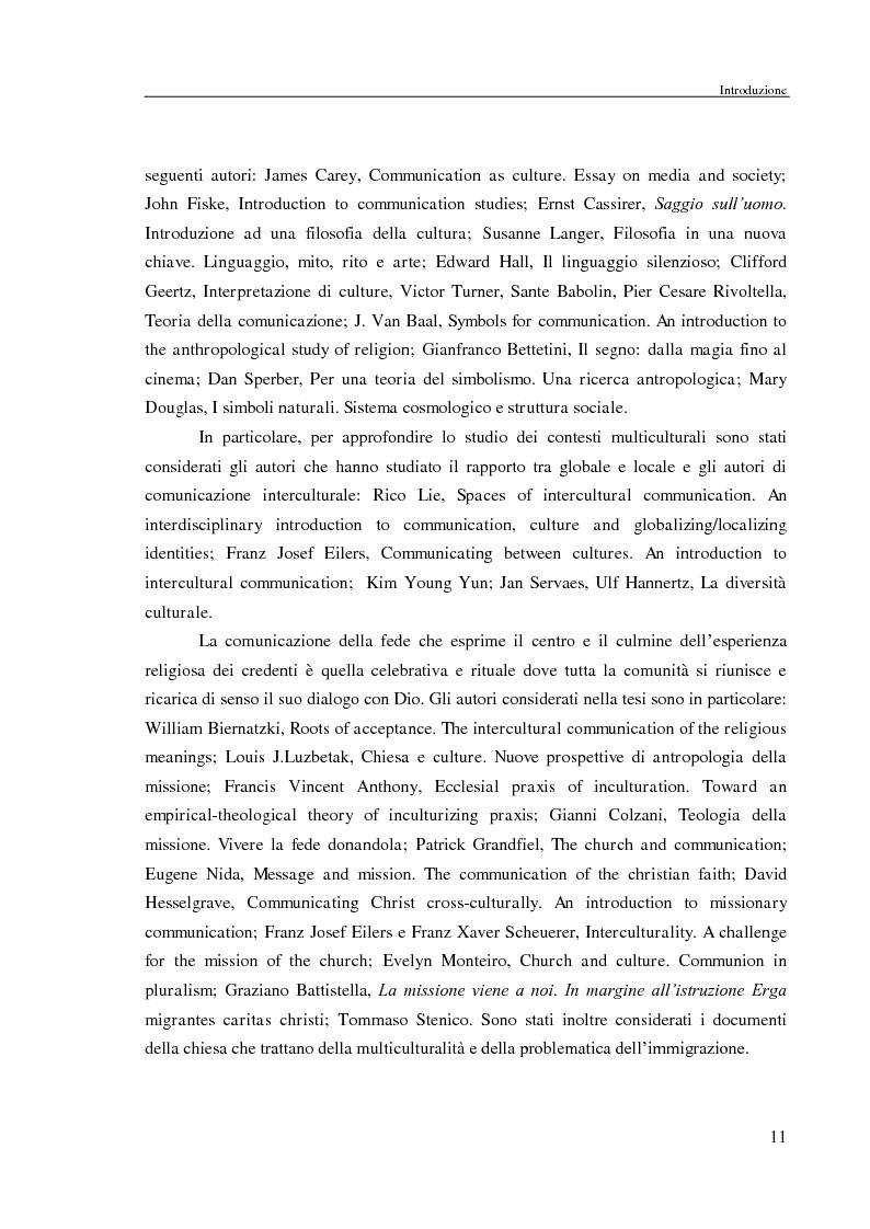 Anteprima della tesi: Comunicazione delle fede in un contesto multiculturale. L'esempio di alcune comunità di immigrati a Roma., Pagina 8