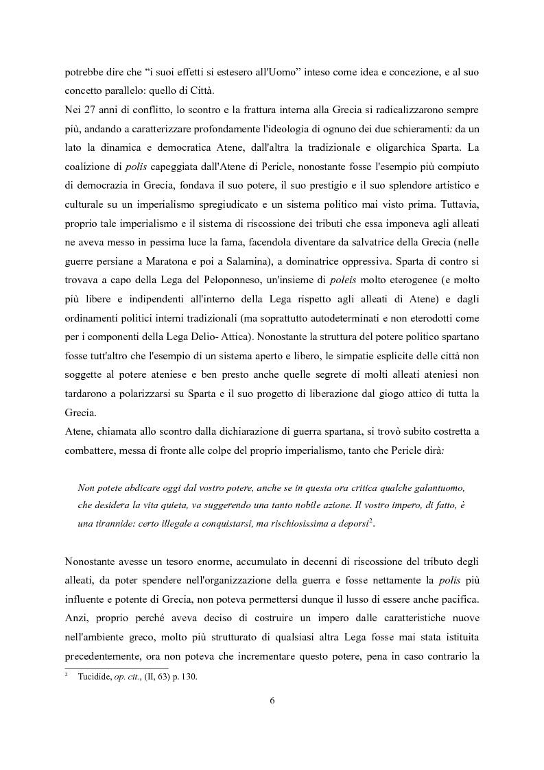Anteprima della tesi: Tucidide e Platone - La crisi della città tra storia e filosofia della politica, Pagina 2