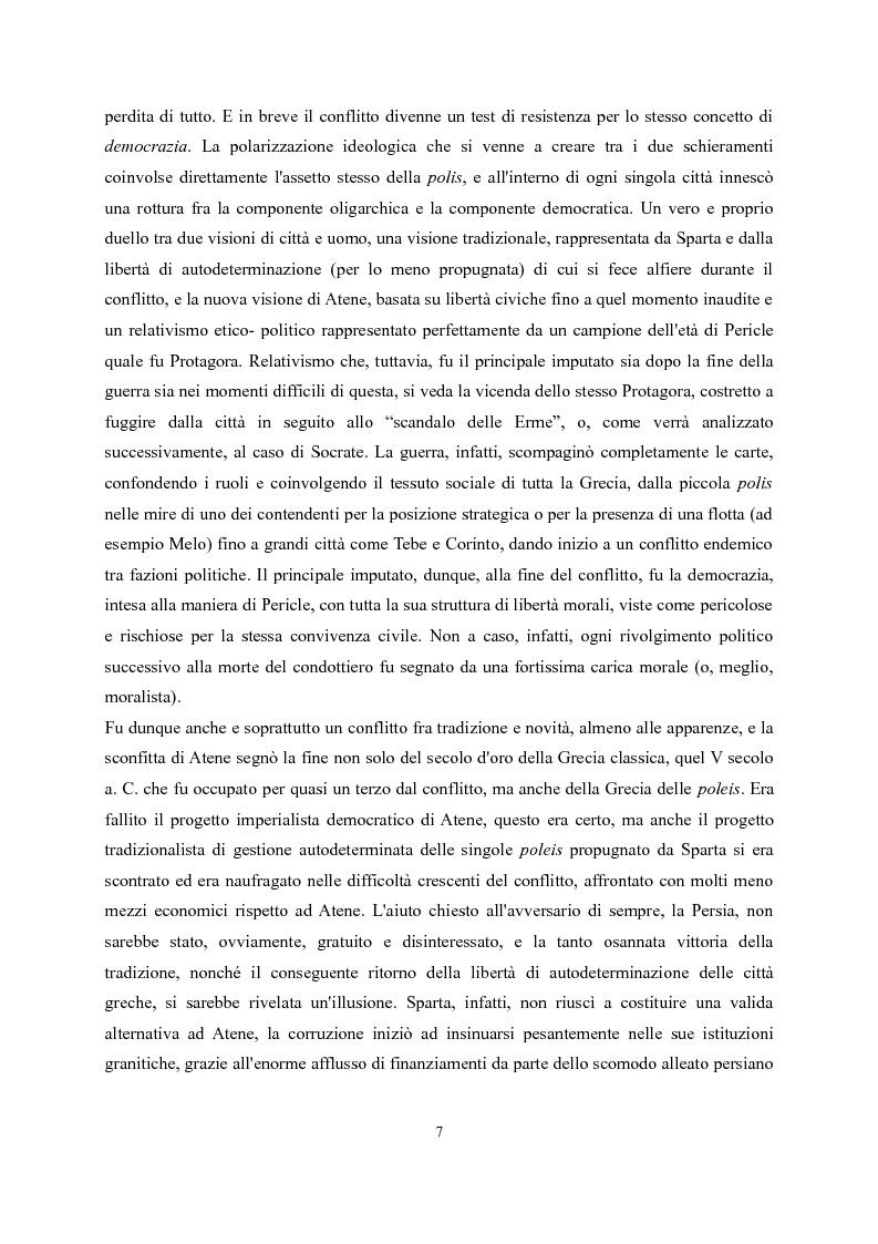 Anteprima della tesi: Tucidide e Platone - La crisi della città tra storia e filosofia della politica, Pagina 3