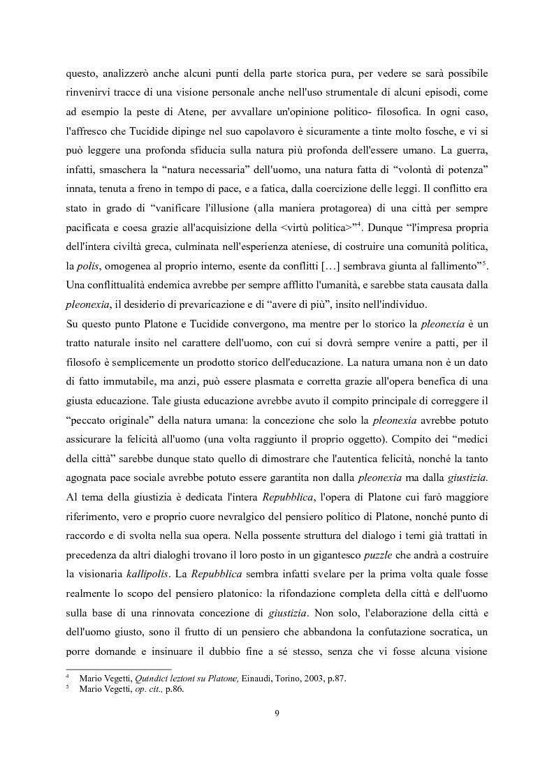 Anteprima della tesi: Tucidide e Platone - La crisi della città tra storia e filosofia della politica, Pagina 5