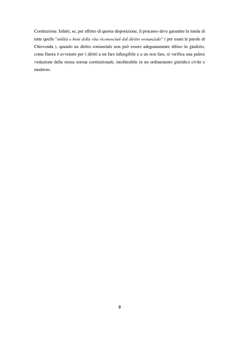 Anteprima della tesi: L'attuazione degli obblighi di fare infungibile e di non fare (Art. 614 bis c.p.c.), Pagina 6