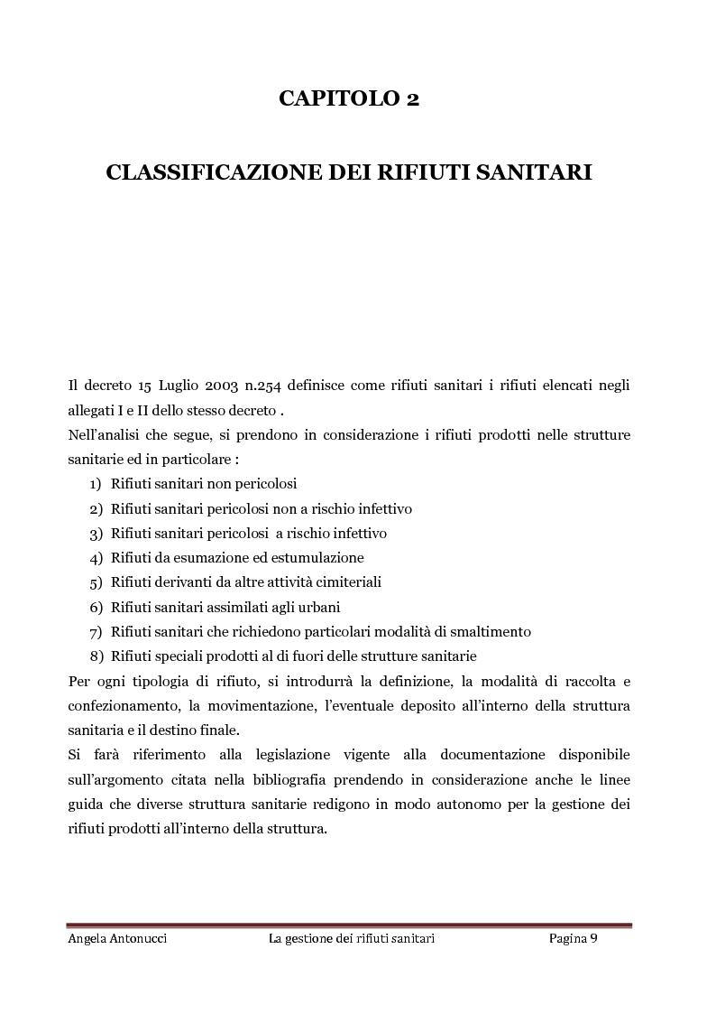 Anteprima della tesi: La gestione dei rifiuti sanitari, Pagina 8