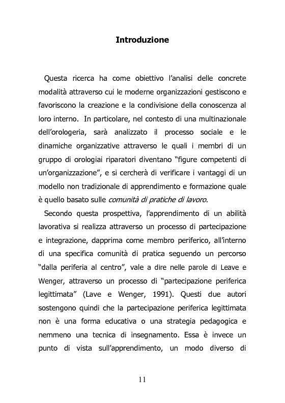 Anteprima della tesi: L'orologiaio, un mestiere anico al passo con i tempi. Aggiornarsi alla Swatch Group., Pagina 1