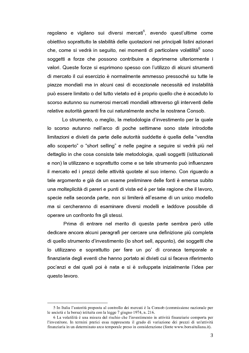 Anteprima della tesi: Restrizioni all'attività di short selling e impatto sui mercati finanziari, Pagina 6
