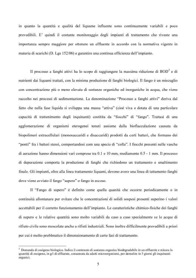 Anteprima della tesi: Caratterizzazione di un impianto di depurazione, Pagina 3