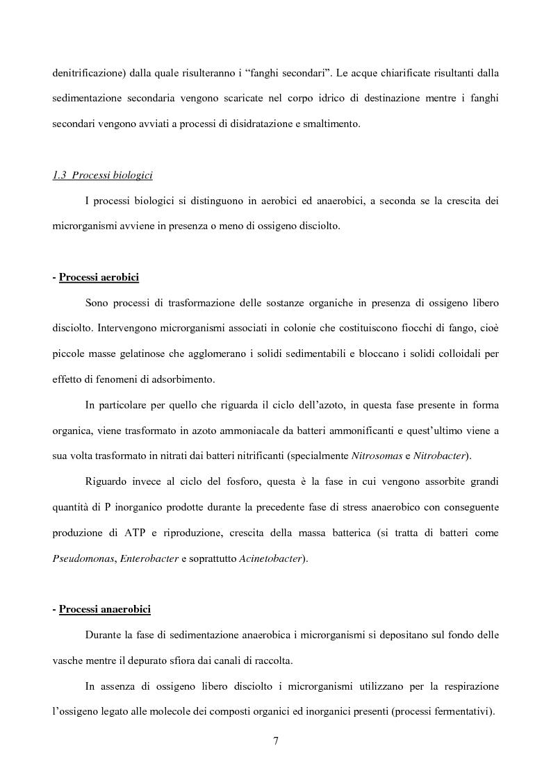 Anteprima della tesi: Caratterizzazione di un impianto di depurazione, Pagina 5