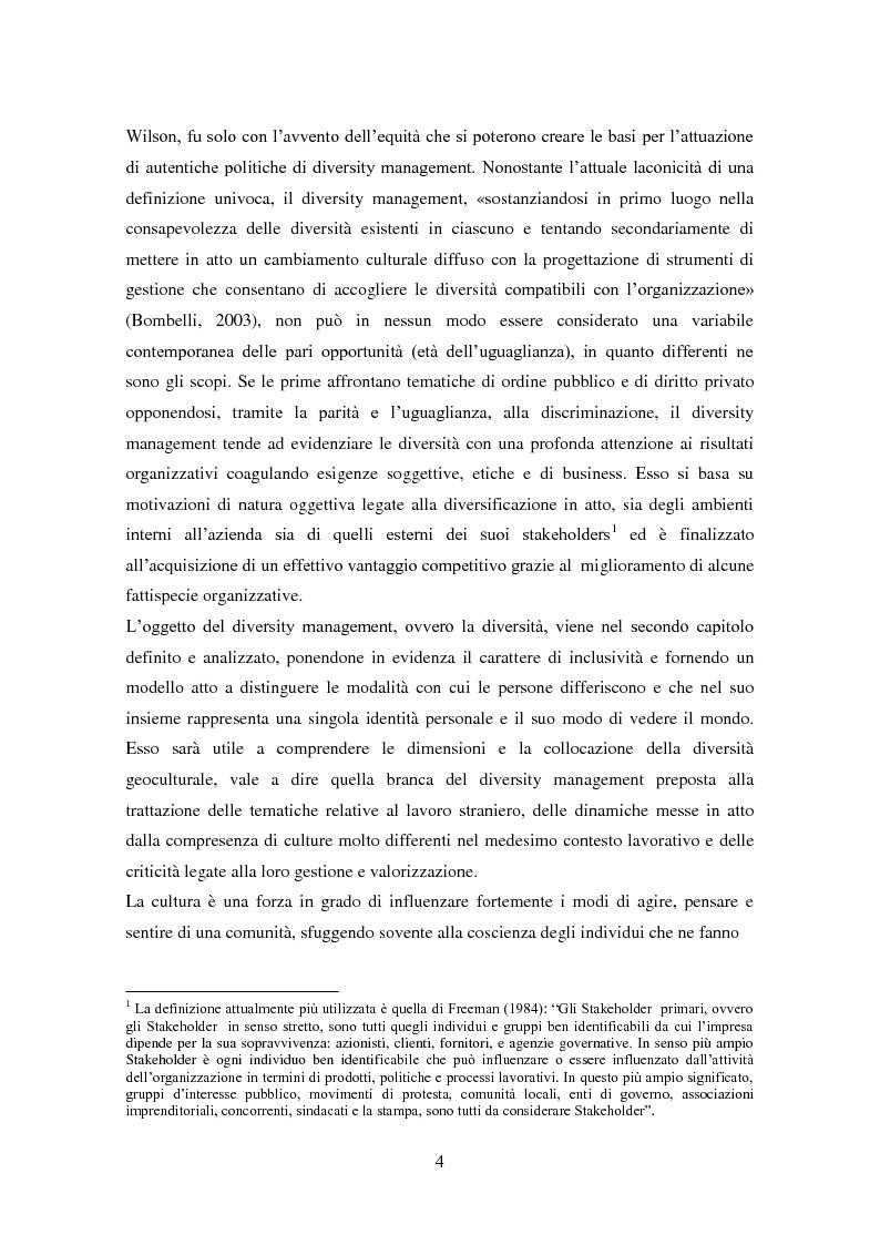 Anteprima della tesi: Diversity management: comprendere e gestire la multiculturalità nell'organizzazione, Pagina 2