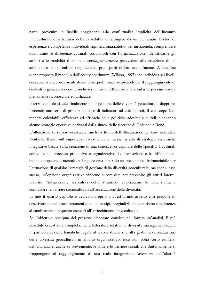 Anteprima della tesi: Diversity management: comprendere e gestire la multiculturalità nell'organizzazione, Pagina 3