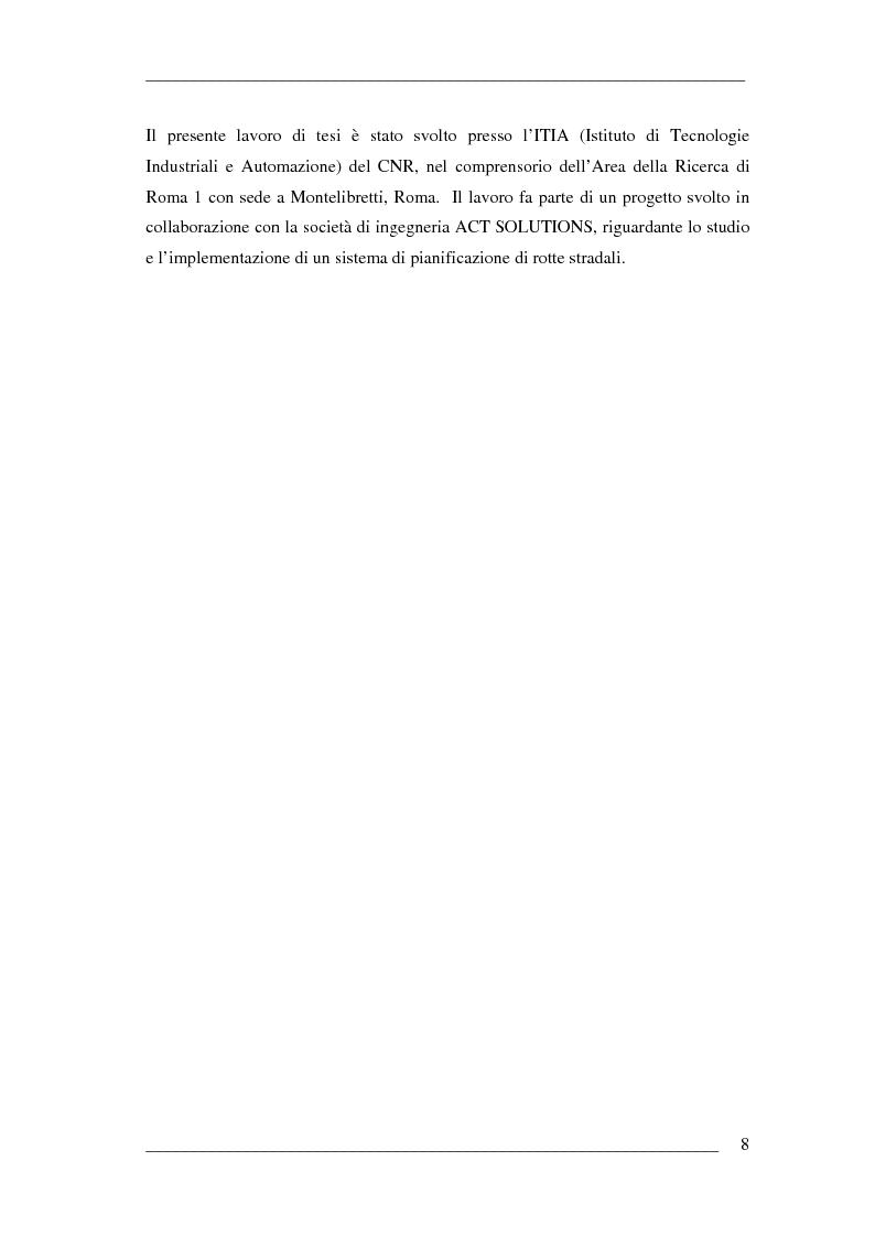 Anteprima della tesi: Un algoritmo efficiente di cammino minimo per sistemi informativi territoriali, Pagina 3