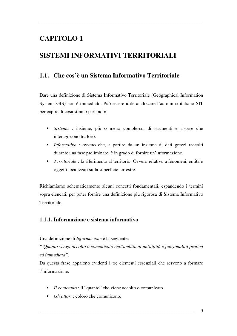 Anteprima della tesi: Un algoritmo efficiente di cammino minimo per sistemi informativi territoriali, Pagina 4