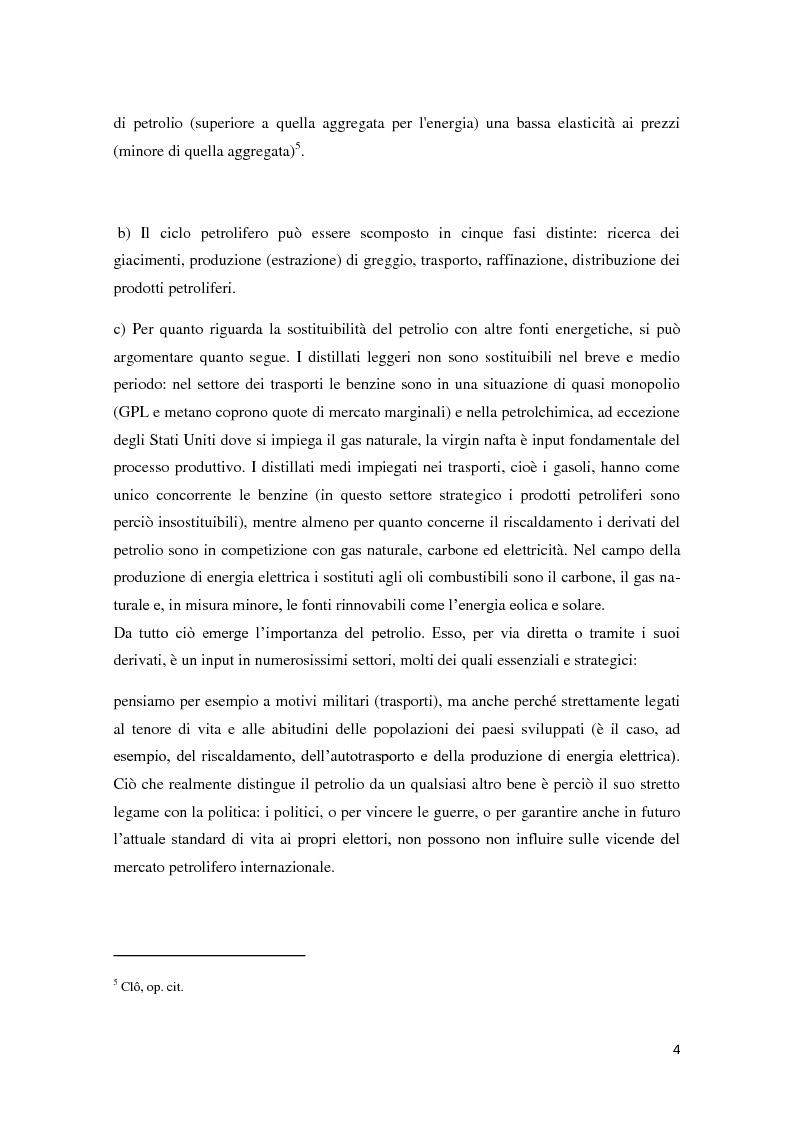 Anteprima della tesi: Il mercato petrolifero: gli strumenti di formazione dei prezzi e le conseguenze macroeconomiche, Pagina 7