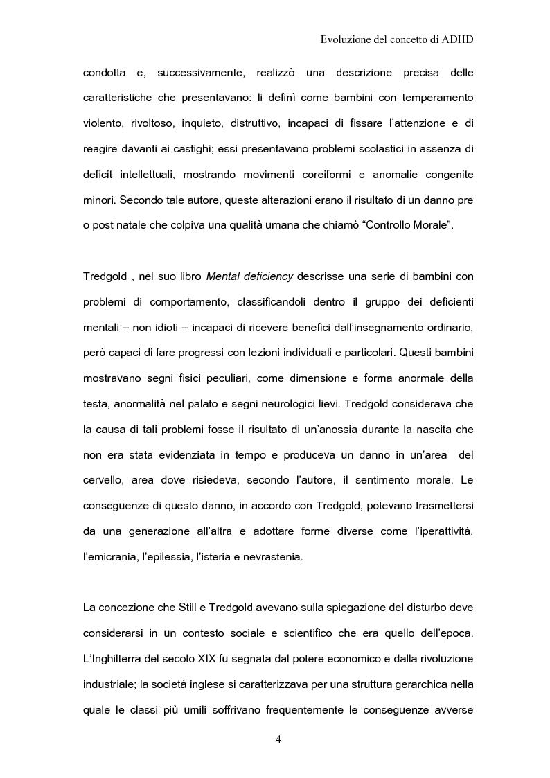 Anteprima della tesi: ADHD Disturbo da deficit dell'attenzione e iperattività: basi psicologiche neuroanatomiche e genetiche, Pagina 2