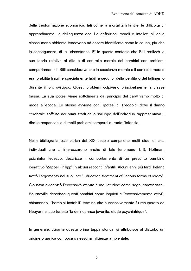 Anteprima della tesi: ADHD Disturbo da deficit dell'attenzione e iperattività: basi psicologiche neuroanatomiche e genetiche, Pagina 3