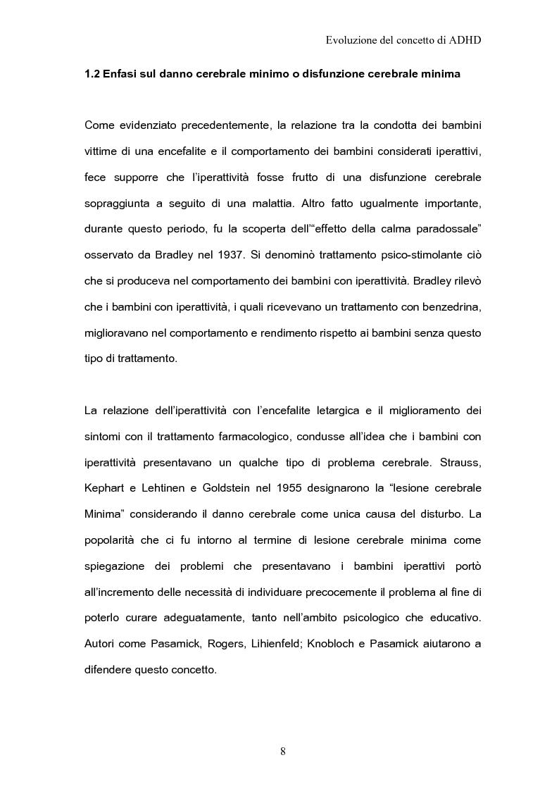 Anteprima della tesi: ADHD Disturbo da deficit dell'attenzione e iperattività: basi psicologiche neuroanatomiche e genetiche, Pagina 6