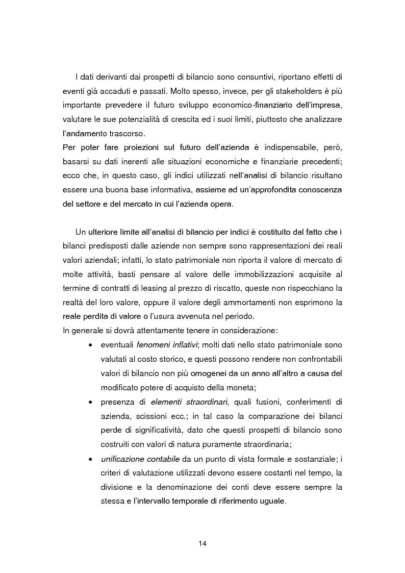 Anteprima della tesi: I limiti dell'analisi di bilancio per indici: il caso Sabaf, Pagina 10