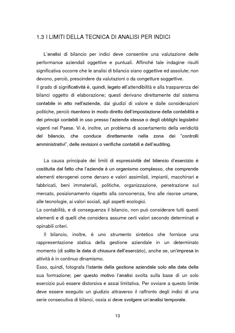 Anteprima della tesi: I limiti dell'analisi di bilancio per indici: il caso Sabaf, Pagina 9