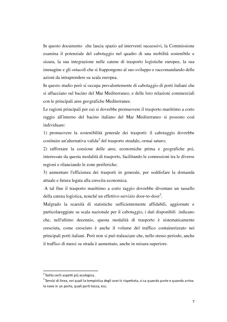 Anteprima della tesi: Il trasporto merci e passeggeri: il caso Grandi Navi Veloci, Pagina 2