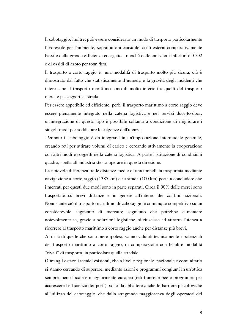 Anteprima della tesi: Il trasporto merci e passeggeri: il caso Grandi Navi Veloci, Pagina 4