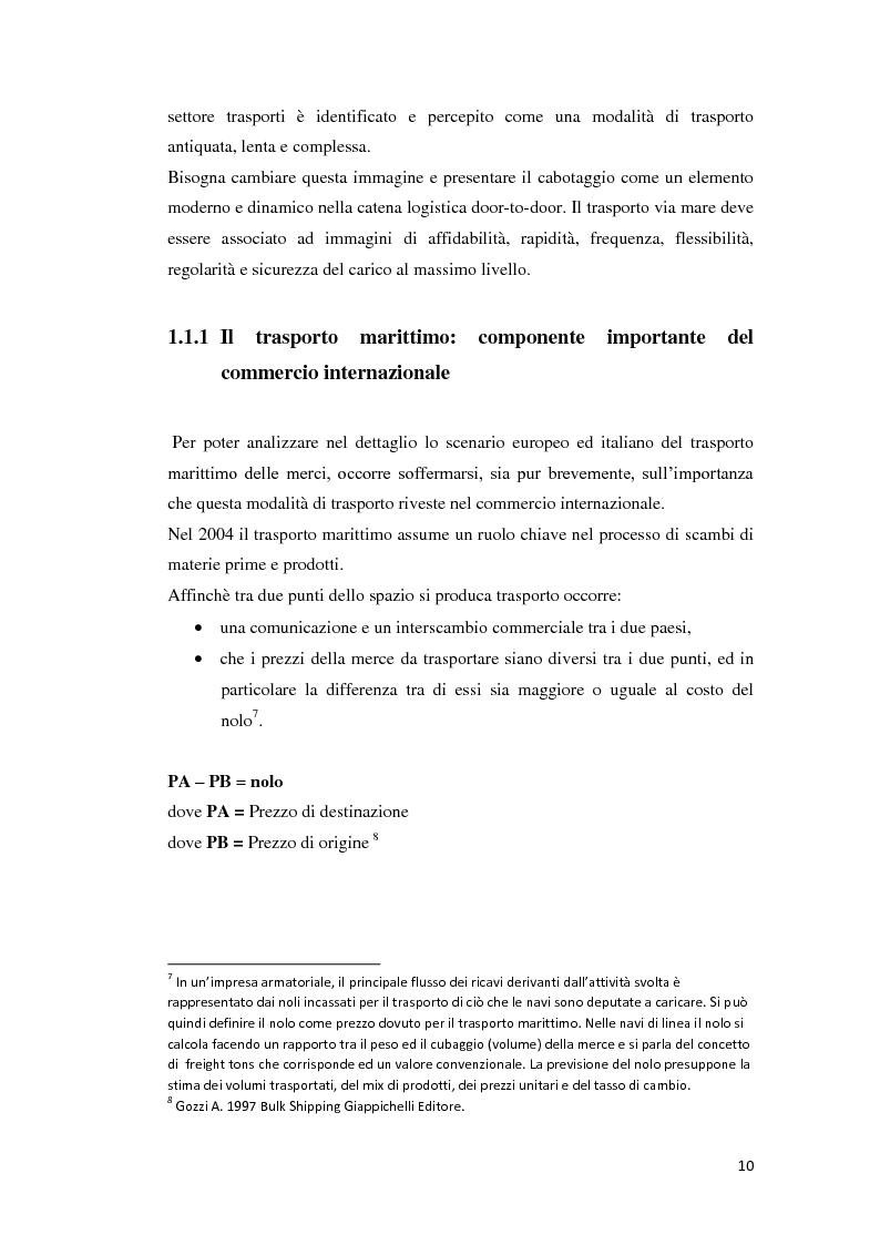 Anteprima della tesi: Il trasporto merci e passeggeri: il caso Grandi Navi Veloci, Pagina 5