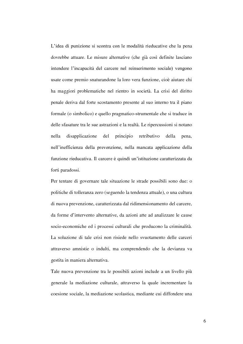 Anteprima della tesi: La crisi del diritto penale nella società post-moderna. Analisi degli elementi generativi, risvolti e strategie di gestione., Pagina 2
