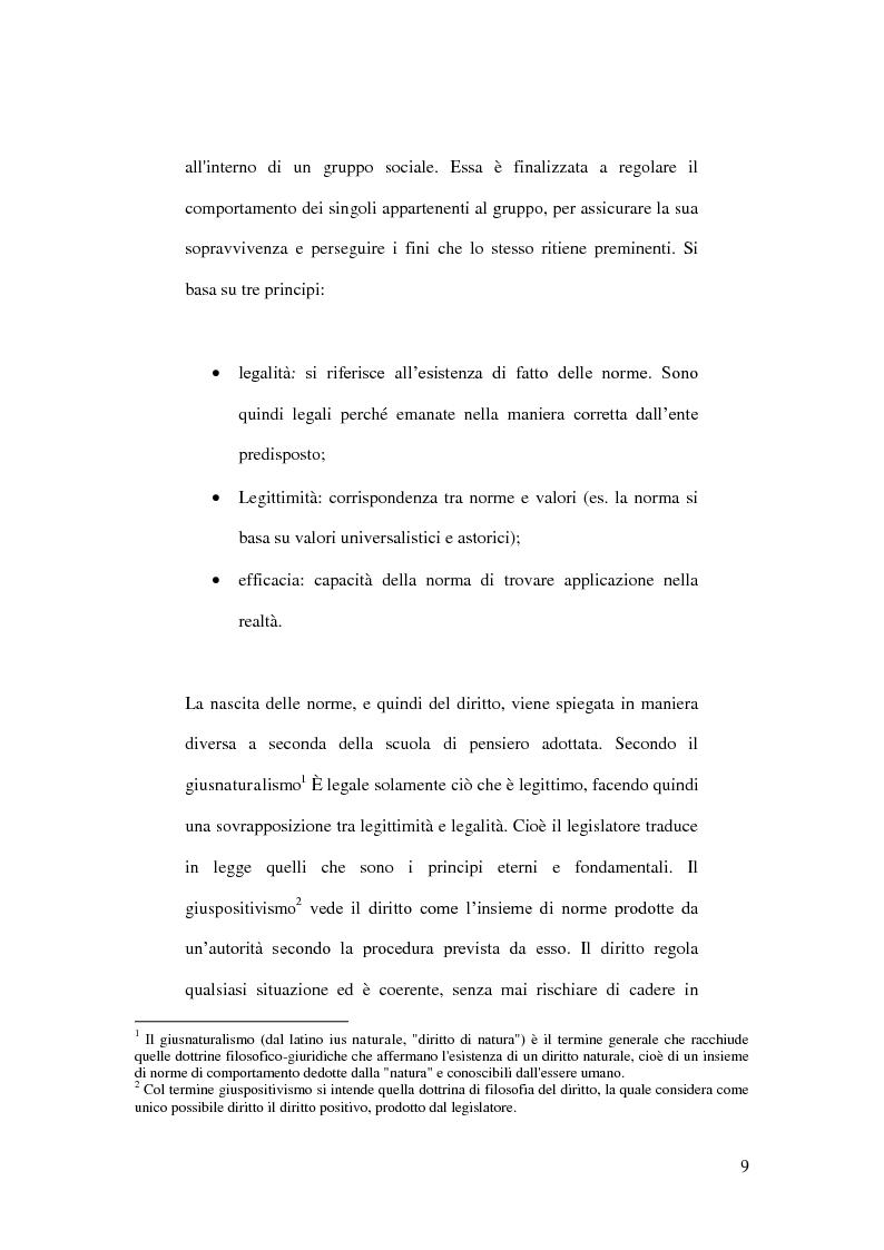 Anteprima della tesi: La crisi del diritto penale nella società post-moderna. Analisi degli elementi generativi, risvolti e strategie di gestione., Pagina 5