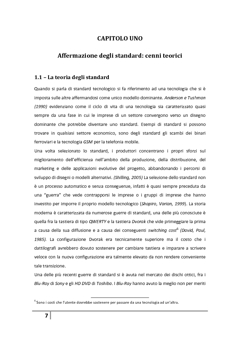 Anteprima della tesi: L'affermazione dello standard nel settore dei giochi di abilità a distanza. Il caso italiano poker online., Pagina 1