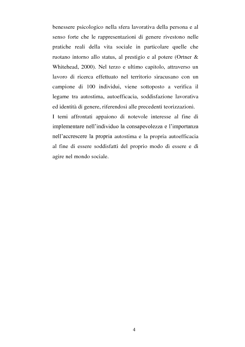 Anteprima della tesi: Autostima, autoefficacia, identità di genere e soddisfazione lavorativa: una ricerca sul campo, Pagina 2