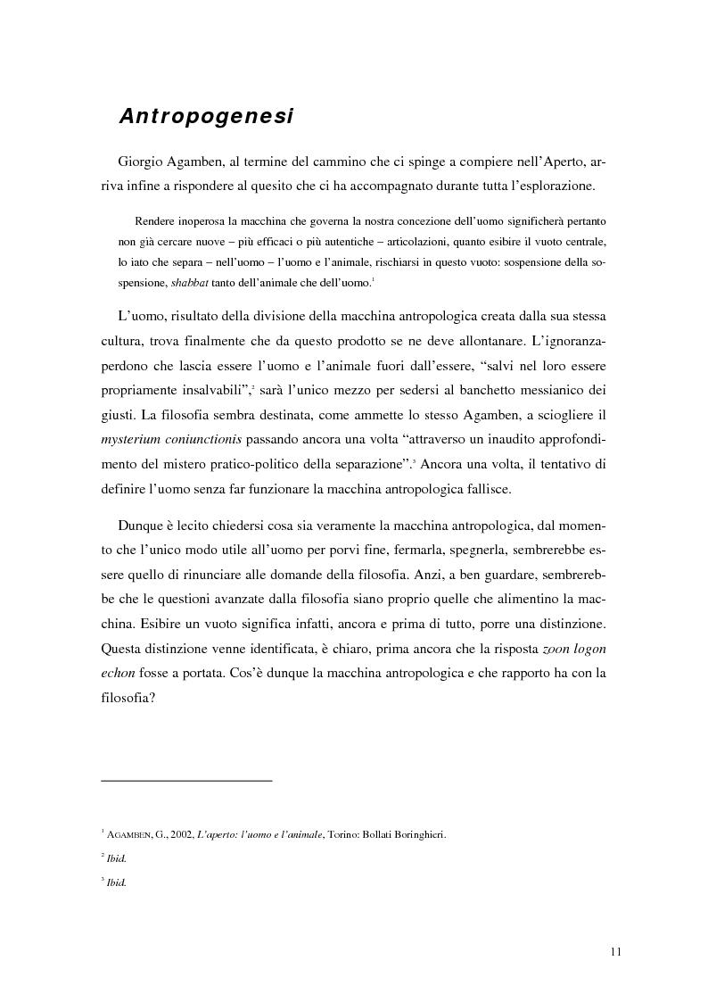 Anteprima della tesi: La frontiera mobile: la macchina antropologica, Pagina 4