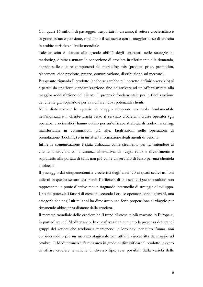 Anteprima della tesi: Il peso delle escursioni nella determinazione della redditività di un'impresa crocieristica: il caso Costa Crociere, Pagina 4