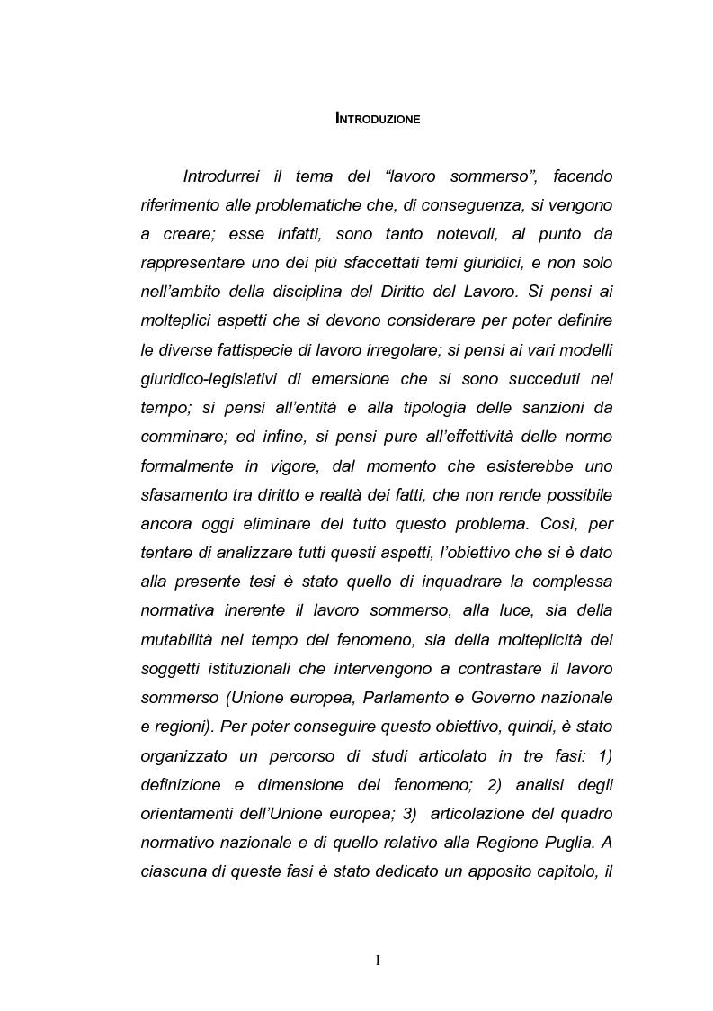 Anteprima della tesi: Il lavoro sommerso, Pagina 1