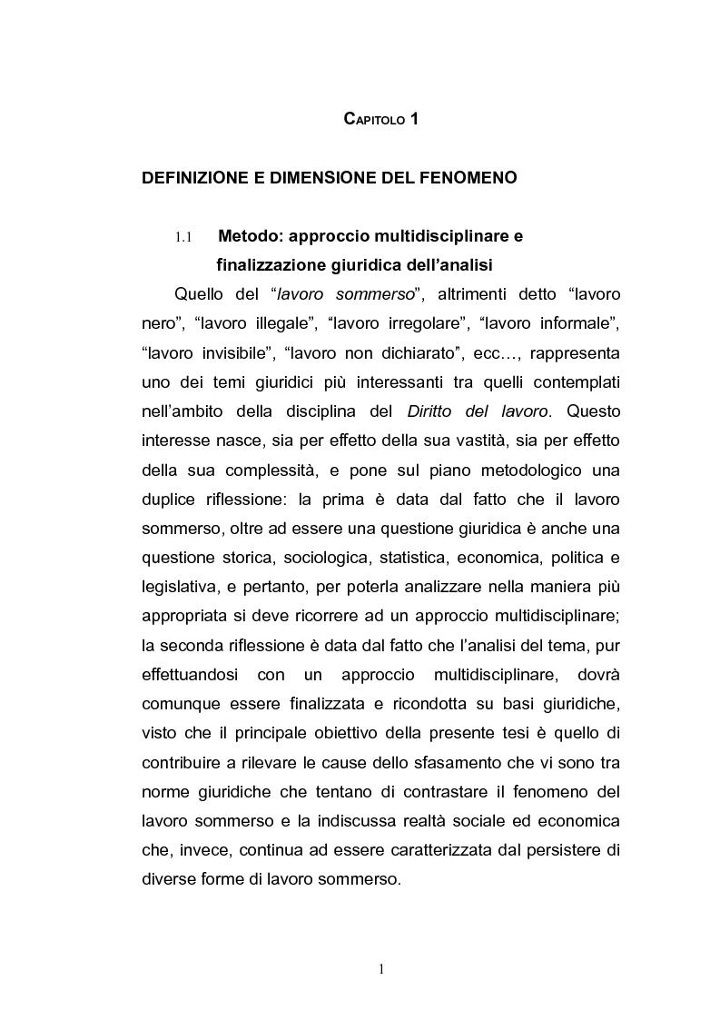 Anteprima della tesi: Il lavoro sommerso, Pagina 3