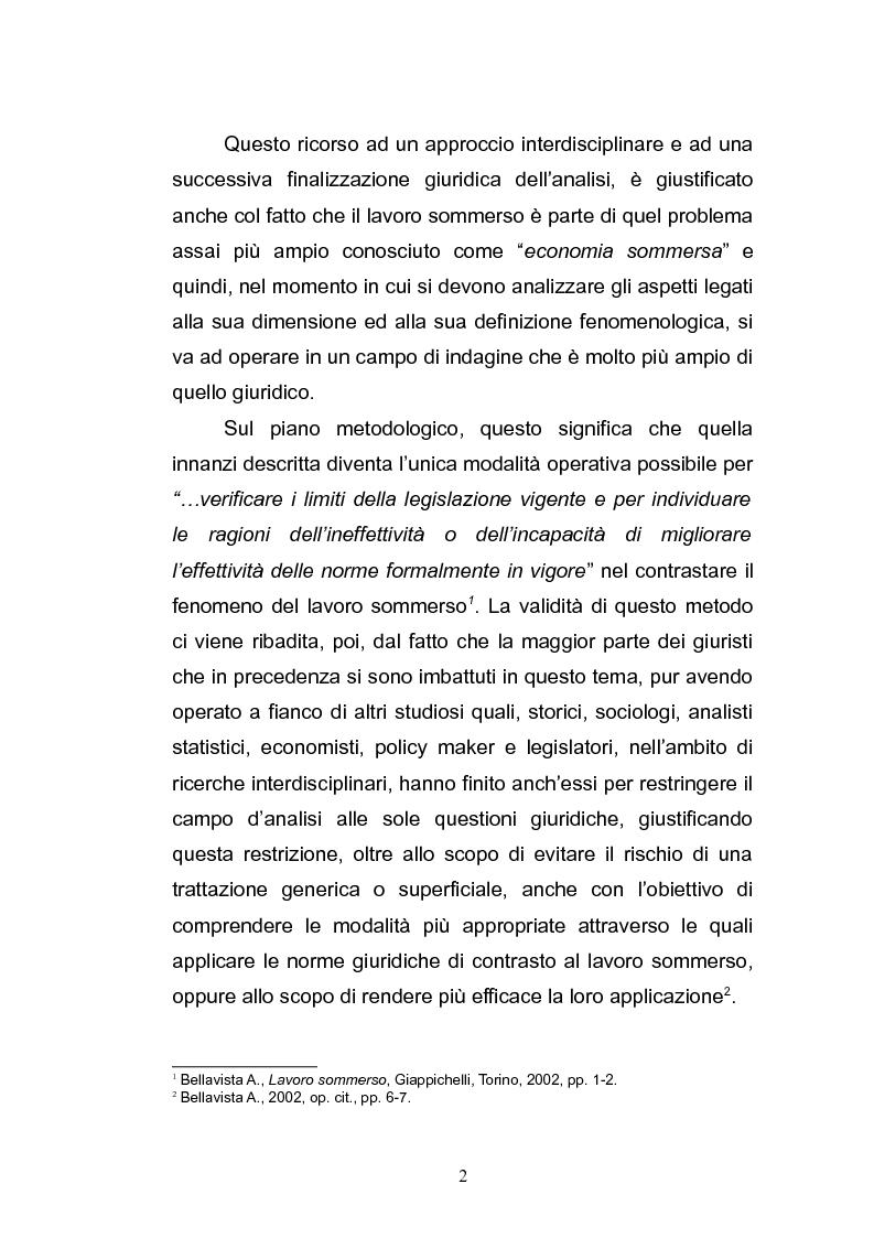 Anteprima della tesi: Il lavoro sommerso, Pagina 4