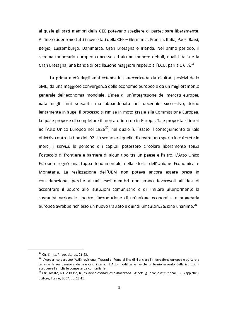 Anteprima della tesi: Il Patto di stabilità e crescita dell'Unione Europea: una prospettiva giuridica ed economica, Pagina 8