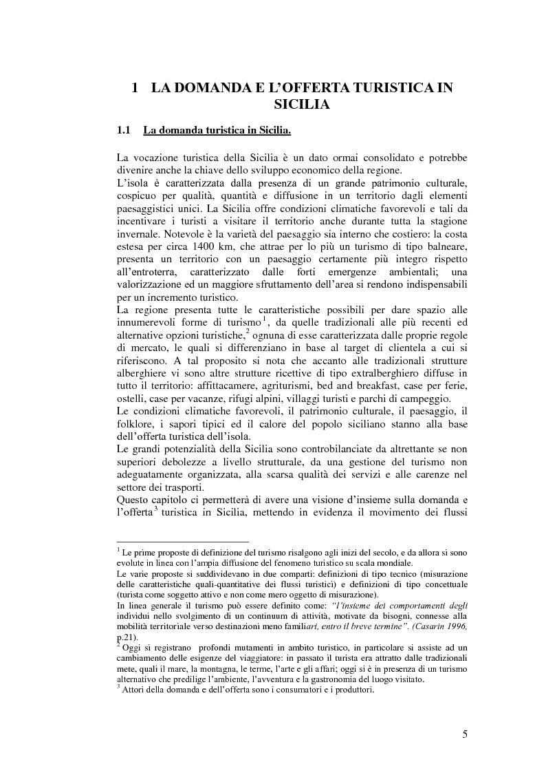 Anteprima della tesi: Il turismo relazionale integrato e il paese albergo in Sicilia, Pagina 1